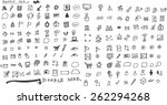 hand drawn social media icon set   Shutterstock .eps vector #262294268