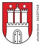 coat of arms of hamburg ... | Shutterstock .eps vector #262297418