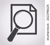 document and magnifying glass...