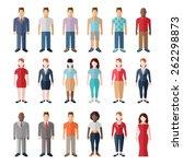 flat style modern people in... | Shutterstock .eps vector #262298873