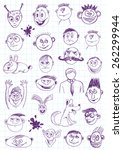 Funny Faces Hand Drawing
