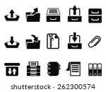 black archive icons set | Shutterstock .eps vector #262300574