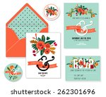 collection of wedding... | Shutterstock .eps vector #262301696