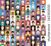 collection of avatars13   81... | Shutterstock .eps vector #262302020