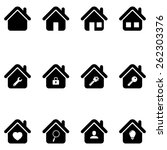 house icon set | Shutterstock .eps vector #262303376