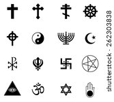 religion icons set | Shutterstock .eps vector #262303838