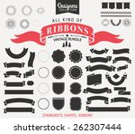 vintage premium styled ribbons  ... | Shutterstock .eps vector #262307444
