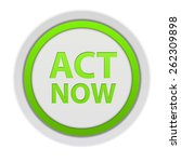 act now circular icon on white...   Shutterstock . vector #262309898