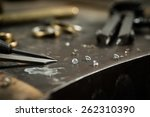 working desk for craft jewelery ... | Shutterstock . vector #262310390
