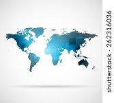 world map | Shutterstock .eps vector #262316036