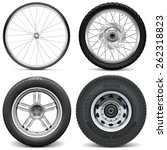 vector tires for bicycle... | Shutterstock .eps vector #262318823