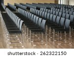 endless rows of chairs in a... | Shutterstock . vector #262322150