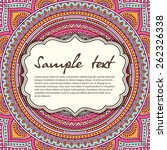 card or invitation. vintage... | Shutterstock .eps vector #262326338