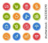 shopping web icons | Shutterstock .eps vector #262330190