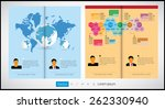 layout magazine  vector | Shutterstock .eps vector #262330940