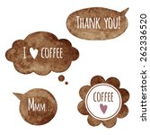 brown watercolor vector speech... | Shutterstock .eps vector #262336520