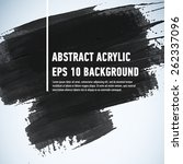 abstract painted ink stroke... | Shutterstock .eps vector #262337096