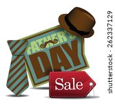 happy fathers day sale icon eps ... | Shutterstock .eps vector #262337129