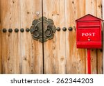 Red Post Box Or Mailbox Postbo...