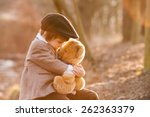 Adorable Little Boy With His...