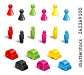 set of color plastic gaming... | Shutterstock .eps vector #262369100