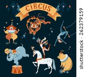 A Set Of Circus Characters....