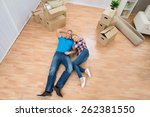 high angle view of young couple ... | Shutterstock . vector #262381550