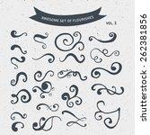 doodle flourish | Shutterstock .eps vector #262381856