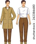 the suit for the woman consists ... | Shutterstock .eps vector #262386680