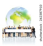 crowd of businesspeople... | Shutterstock .eps vector #262387910