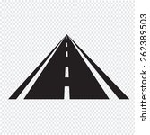 road icon | Shutterstock .eps vector #262389503