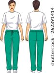 the suit for the woman consists ... | Shutterstock .eps vector #262391414