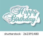 illustration of birthday card | Shutterstock .eps vector #262391480