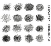 hand drawn sketch scribble ... | Shutterstock .eps vector #262392569