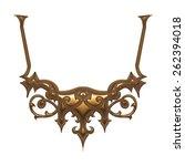 3d set of an ancient gold...   Shutterstock . vector #262394018