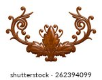 3d set of an ancient chocolate... | Shutterstock . vector #262394099