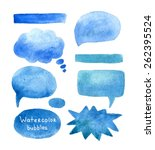 speak bubbles watercolor icons... | Shutterstock .eps vector #262395524