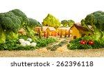 Landscape Made Up Of Vegetable...