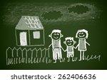 happy family | Shutterstock . vector #262406636