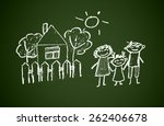 happy family | Shutterstock . vector #262406678