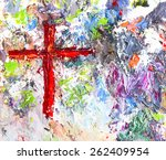 Jesus  Cross With  Colorful ...