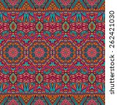 ethnic abstract seamless... | Shutterstock . vector #262421030