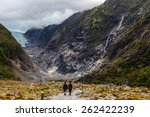 hiking to the franz josef... | Shutterstock . vector #262422239