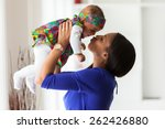 young african american mother... | Shutterstock . vector #262426880