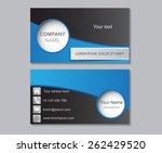 abstract modern business card... | Shutterstock .eps vector #262429520