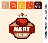 set of badge  label  logo ... | Shutterstock .eps vector #262436480