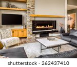 furnished living room in luxury ... | Shutterstock . vector #262437410