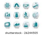 vector illustration of winter... | Shutterstock .eps vector #26244505