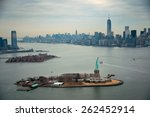 New York City Manhattan Aerial...