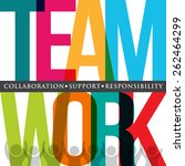 teamwork people logo typography  | Shutterstock .eps vector #262464299